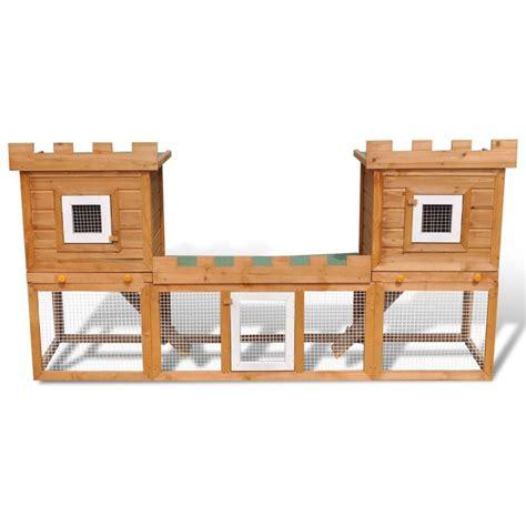 gabbia per conigli da esterno gabbia due casette per conigli da esterno grande
