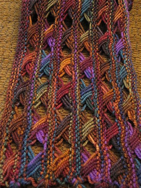 cross stitch knitting pattern scarf koigu cross stitch scarf pattern by doublepointed designs