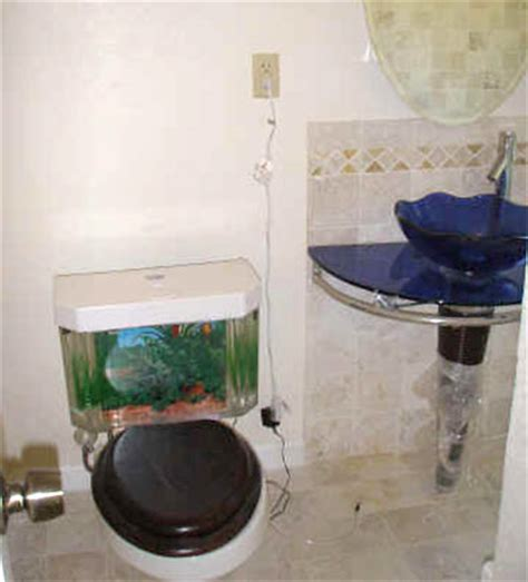 bathroom fish tank riverside terrace extra toilet fish included swlot