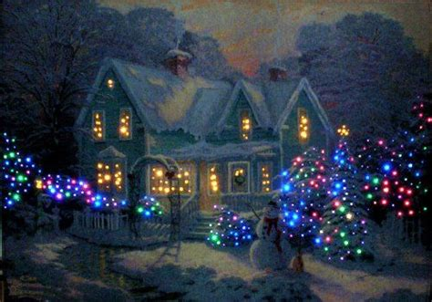 17 inch lighted church scene with colorful rice lights 17 best images about kinkade on cottages villages and garden