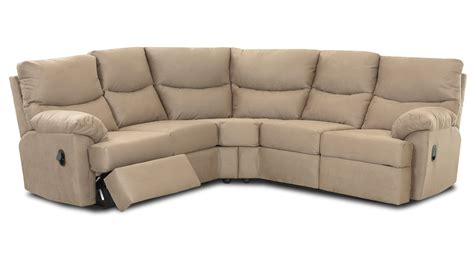 micro suede sectional klaussner bristol reclining sectional sofa set