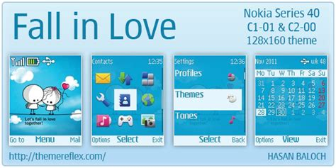love themes c2 fall in love theme for nokia c1 01 c2 00 themereflex
