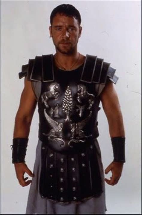 gladiator film encyclopedia russell crowe s chest armour from the movie gladiator