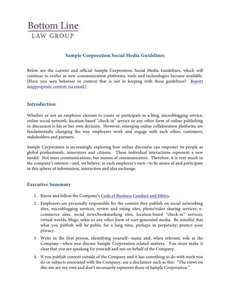 social media policy template for employees social media policy template and resources