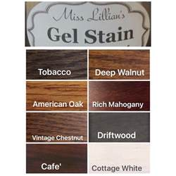 gel stain colors miss lillian s gel stain miss lillian s no wax chock paint