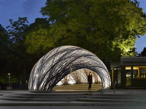 Pavillon Uni Stuttgart by Icd Itke Research Pavilion 2014 15 Institute For