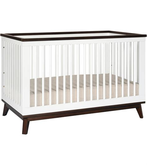 Crib Bed Convertible Babyletto Scoot 3 In 1 Convertible Crib With Toddler Bed Conversion Kit In White Walnut