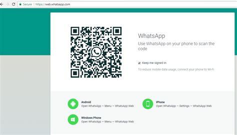 melihat kode qr whatsapp sendiri  android
