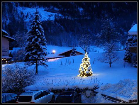 quot beleuchteter weihnachtsbaum im winter 2013 quot ferienhaus