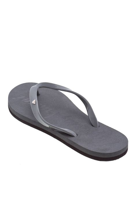 rubber sandals womens emporio armani grey flat rubber sandals flip