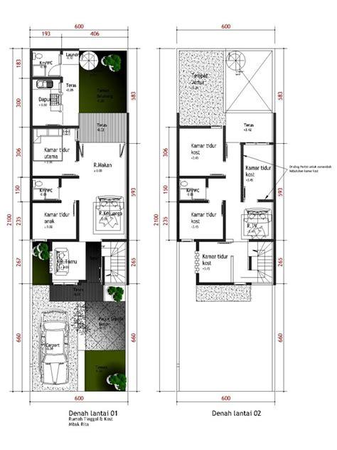 layout rumah ukuran 5 x 10 denah rumah ukuran 7x20 rumah idamanku