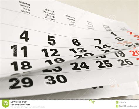 sunday calendar schedule blank page royalty free stock calendar page royalty free stock photos image 13271828