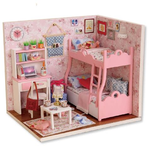 furniture for a doll house diy miniature wooden doll house furniture kits handmade craft model toys gift for children