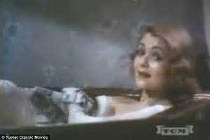 bathtub movie 1930s beauty regime revealed in film including bubble bath