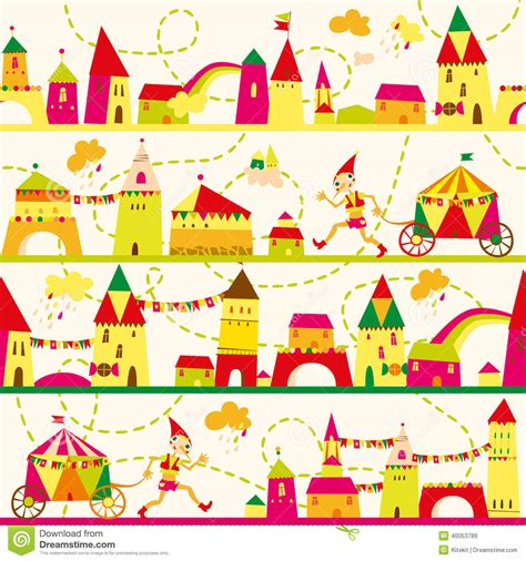 seamless pattern houses seamless pattern with houses for childrens background