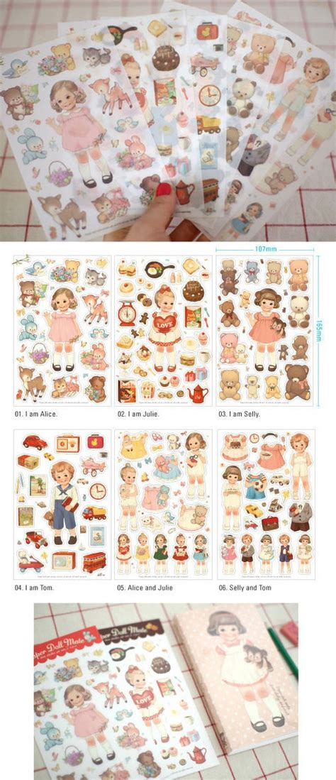 Paper Doll Mate Baking Diary Deco Stickers Sticker Hiasan Buku 376 best images about paper toys on