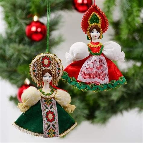 porcelain russian doll ornament set russian christmas