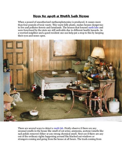 Meth Home Detox by How To Spot A Meth Lab Home