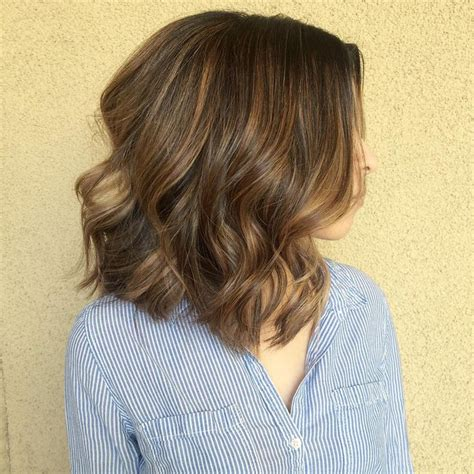 hair cuts to increase curl and volume loving this hot lob she adds loose curls to add volume