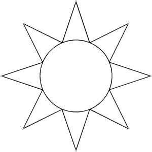 sun rays coloring page best photos of sun templates to cut out sun templates