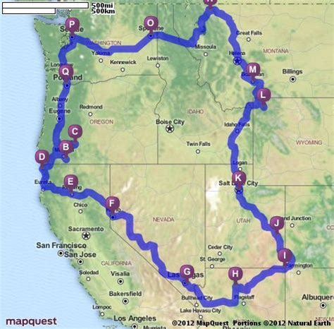 map seattle to yellowstone revision ashland crater lake redwood national park