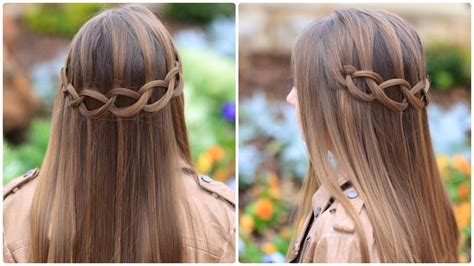 hairstyles for straight hair with braids step by step how to create a loop waterfall braid cute girls hairstyles
