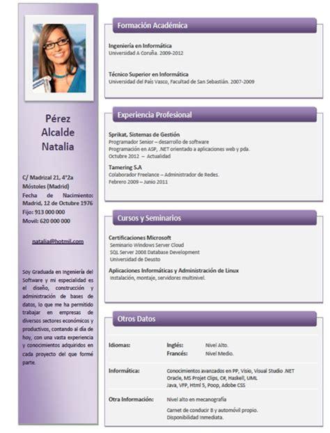 Plantillas De Curriculum Vitae En Ingles Gratis Ejemplos Y Plantillas De Curriculum En Ingl 233 S Trabajar En