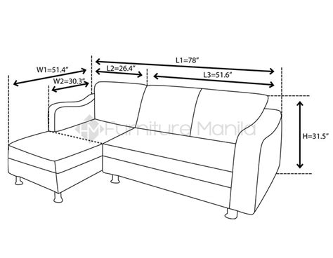 l sofa dimensions tyrene l shaped sofa home office furniture philippines