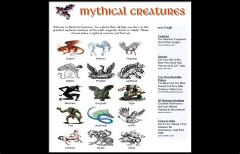 mythical monsters names history of mythical creatures impact o webdesign