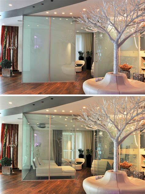 Micro Blinds For Windows Smart Glass Flip A Switch To Make Opaque Turn Transparent