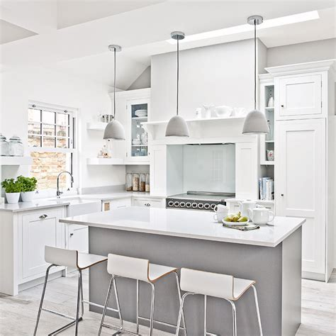 white country kitchen ideas white kitchen ideas 12 sensational schemes that are clean bright and won t date ideal home