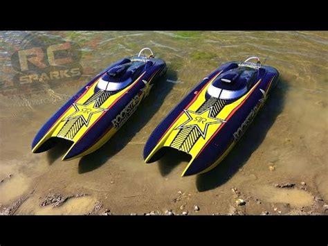 rc jet boat unboxing mystic c 5000 mhz 4 x zenoah bonzisports catamarano rc