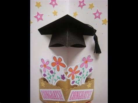 free craft templates for graduation cards pop up graduation hat card