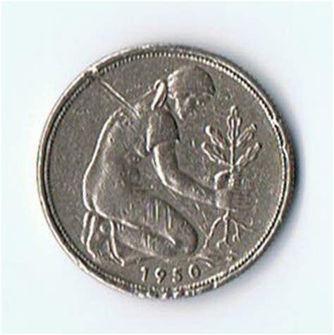 Koin Asing 2 Jerman koin kuno langka coin jerman 50 pfennig tahun 1950