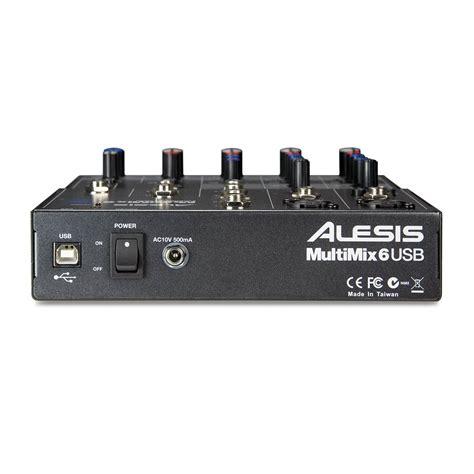 Mixer Audio Alesis alesis multimix 6 usb mixer audio interface