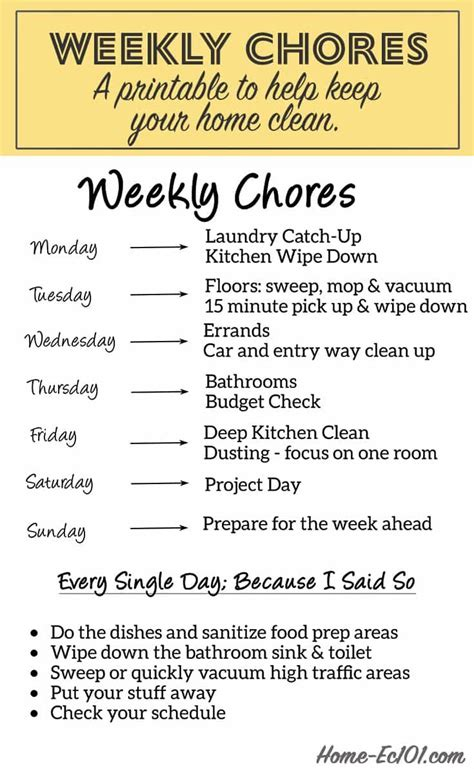 how to keep a clean house schedule best 25 chore schedule ideas on pinterest housekeeping