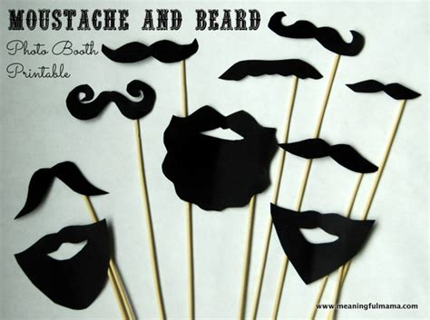 How To Make A Paper Moustache - diy photo booth moustache and beard props with printable