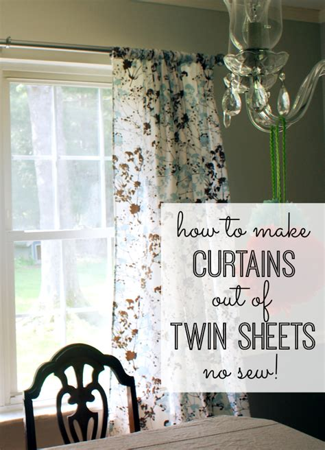 making curtains out of sheets how to make curtains out of twin sheets