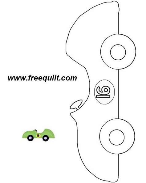 Race Car Quilt Patterns Green Car To Print Race Car Template Printable
