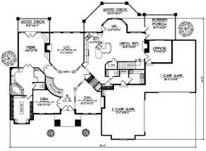 House Plans 1 Story Luxury Style House Plans 5282 Square Foot Home 1 Story