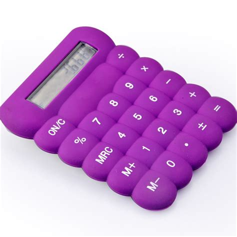 colorful calculator colorful silicone calculator felxible calculator