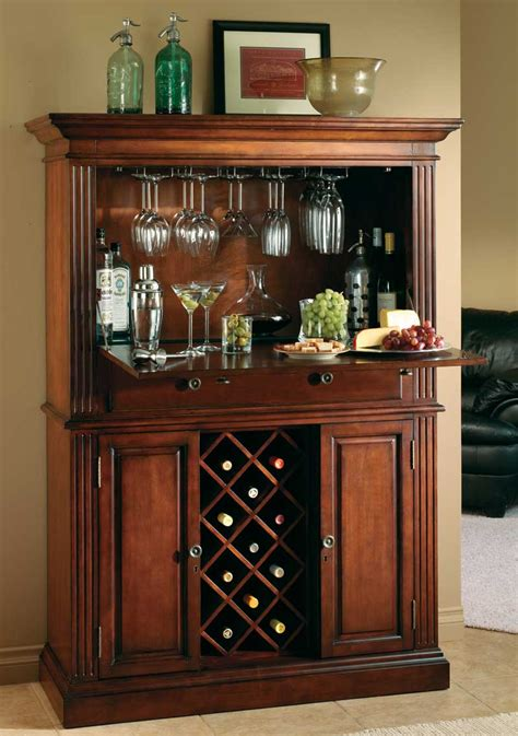Kitchen Wine Rack Ideas by Howard Miller Seneca Falls Wine Amp Spirits Cabinet 690 006