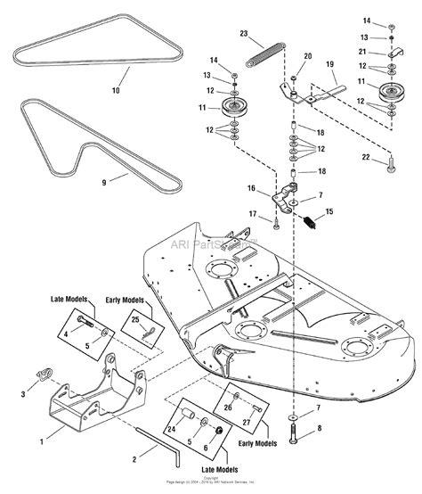 44 parts diagram simplicity 1695390 50 quot mower deck parts diagram for 44