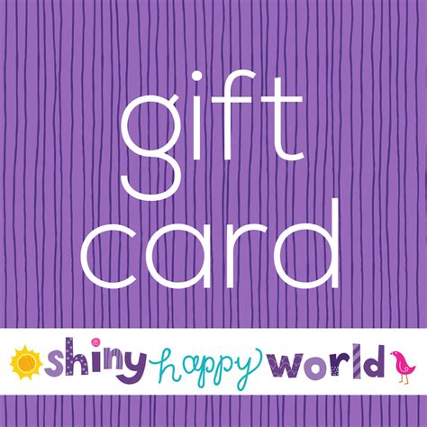World Gift Card - shiny happy world gift cards shiny happy world