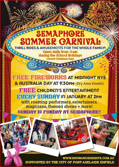 summer carnival christmas semaphore summer carnival event location semaphore foreshore the esplanade