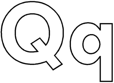 alphabet letter q coloring coloring pages
