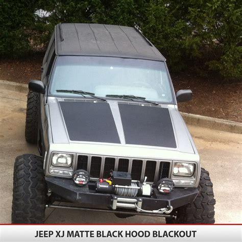 blackout jeep cherokee jeep cherokee xj blackout hood alphavinyl