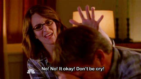 comforting crying girlfriend 23 times liz lemon made you feel ok about being awkward