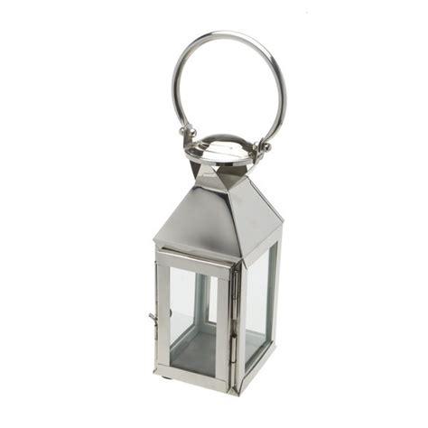 Chrome Candle Lantern Polished Glass And Chrome Coloured Lantern Styleabode