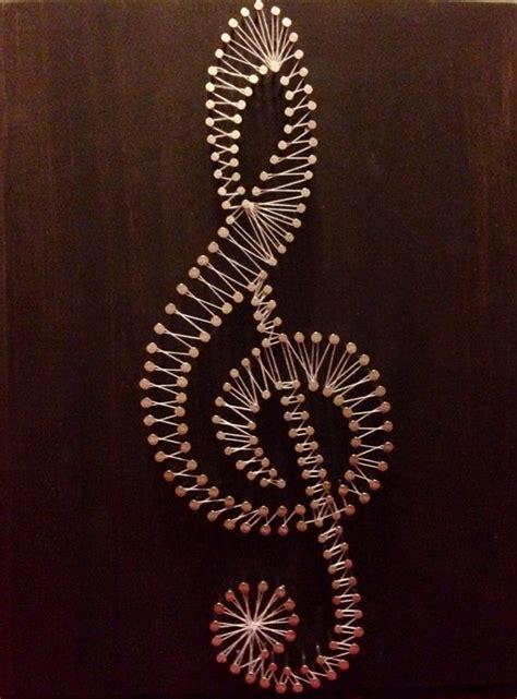 templates for nail string art arte della stringa personalizzabile treble clef is